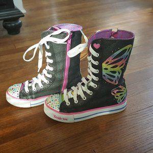 Sketchers Twinkle Toe High Top Sneakers Girls 2.5